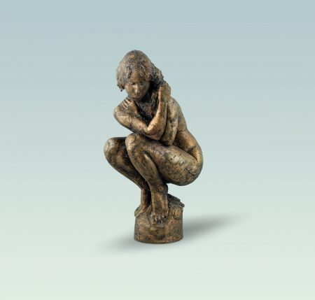 Badende 2, Aktskulptur, skulptur, Bronze