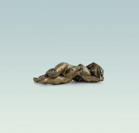 Kleine Liegende, Aktskulptur, skulptur, Bronze
