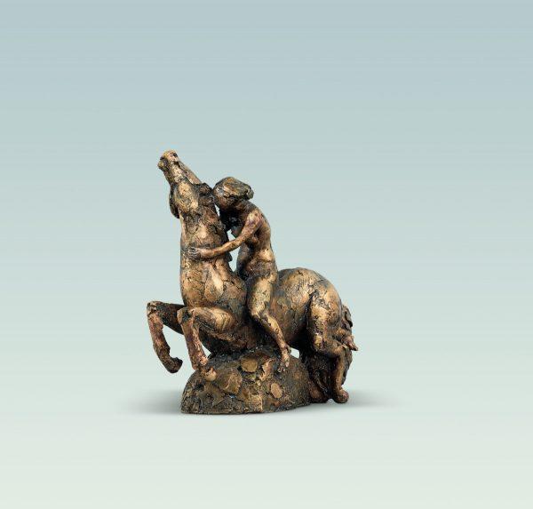 Kleine Reiterin, Aktskulptur, skulptur, Bronze