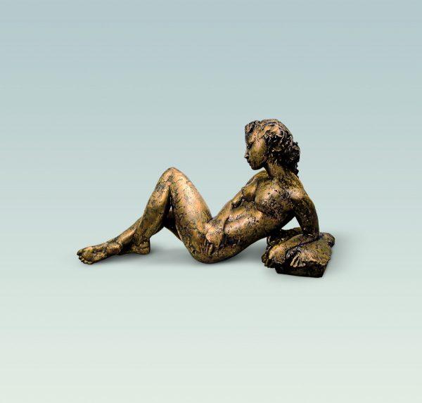 Liegende, Aktskulptur, skulptur, Bronze