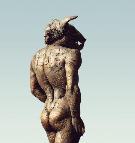 Minotauros, Aktskulptur, skulptur, Bronze