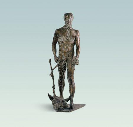 Silen, Aktskulptur, skulptur, Bronze
