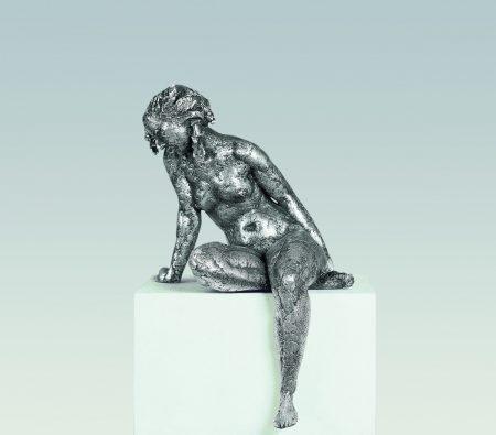 Linda, Aktskulptur, skulptur Bronze